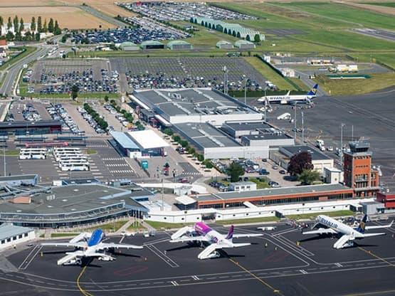 Vue aérienne sur l'Aéroport de Beauvais