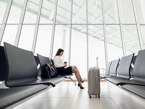 Transfert taxi avec le terminal d''enregistrement de l'Aéroport de Beauvais